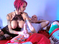 Raunchy night fantasies get impersonated in busty redhead Anna Bell Peaks