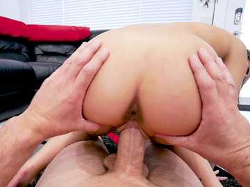 Voracious chick Kira Perez stretched with massive penis in various ways