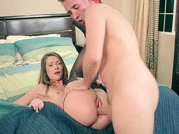Teen stepdaughter Kirsten Lee gets too close to the edge with horny Mr. Lee