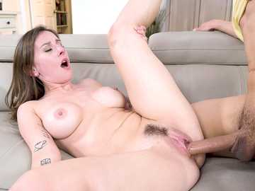 Kinky stepson has wild sex with lustful mommy Ally Cooper till filthy facial