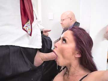Unfaithful wife with huge fake tits Monique Alexander sucks mobster's cock