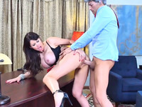 Eva Karera spreads her legs in high heels for pussy fucking with president