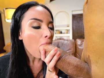 Playful babe Anissa Kate deals with Vlad who has the biggest dick she has ever seen